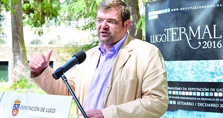 O vicepresidente da Deputación de Lugo, e voceiro do equipo de Goberno provincial, durante a presentación do programa Lugo Termal, a finais do mes de xullo. GPDL