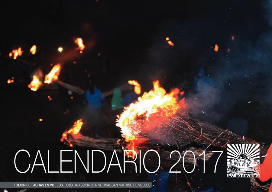 Portada do Calendario 2017 editado pola Asociación Veciñal do Saviñao. (Foto cedida).