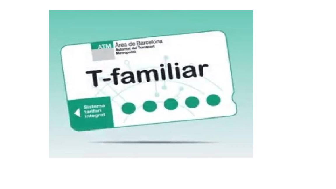 Noves tarifes de l'ATM, la T-Familiar