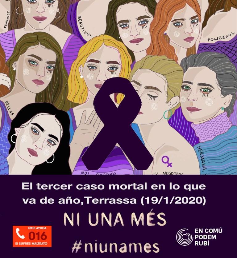 Tercer feminicidio de este 2020 #NiunaMás