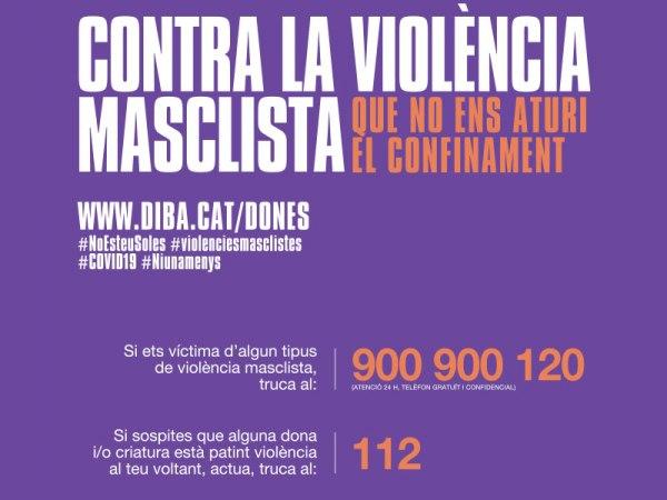 El confinament obligatori i la reducció de serveis poden afectar les víctimes de violència masclista