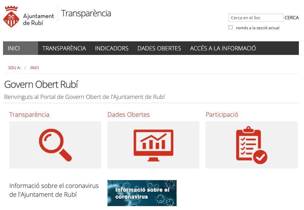 RUBÍ ACONSEGUEIX EL SEGELL INFOPARTICIPA PER 5È ANY CONSECUTIU