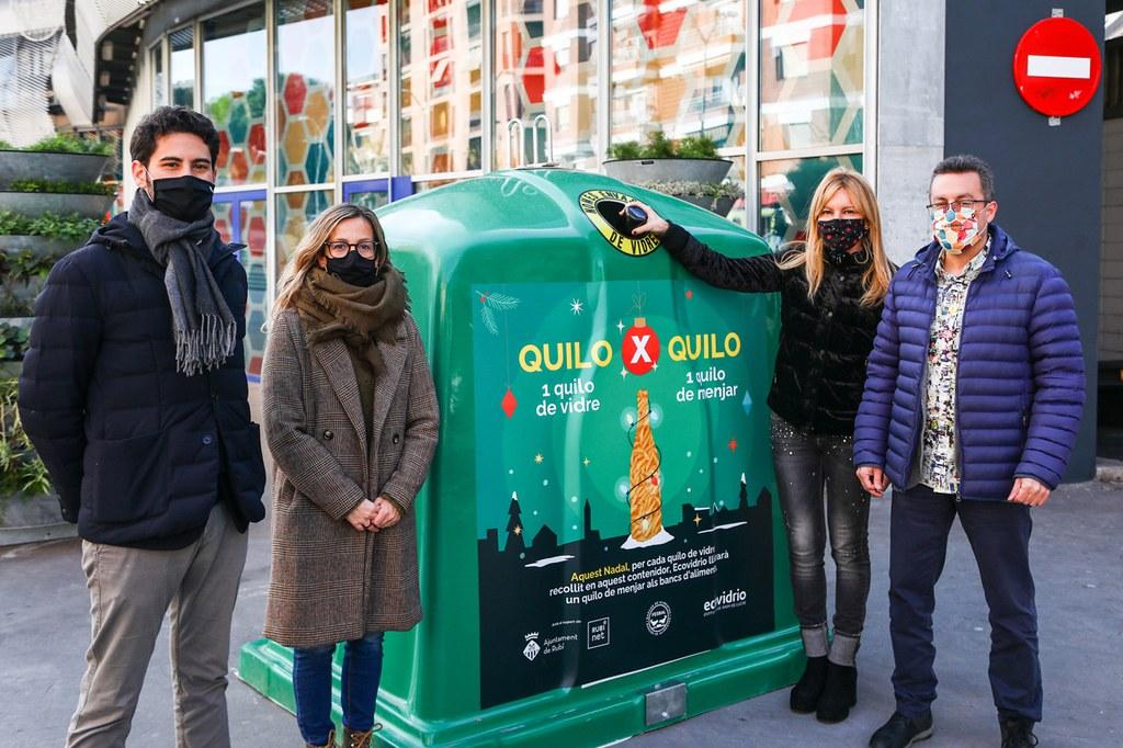 L'Ajuntament de Rubí i Ecovidrio impulsen una campanya per convertir quilos d'envasos de vidre en quilos de menjar per al Banc d'Aliments