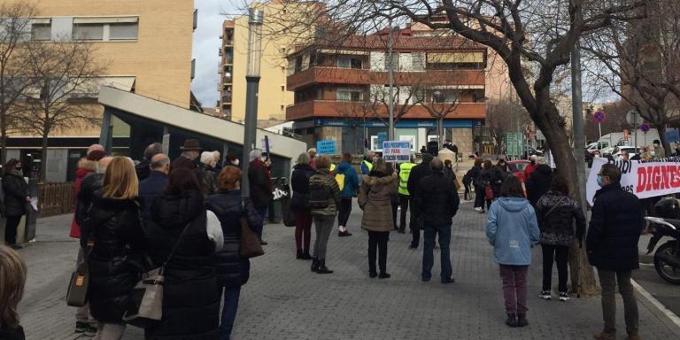 Concentració a Rubí per exigir més recursos per a la sanitat pública