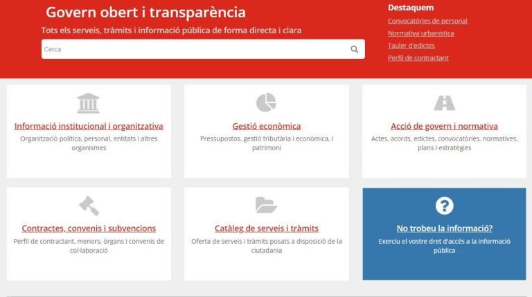 L'Ajuntament actualitza el portal de transparència