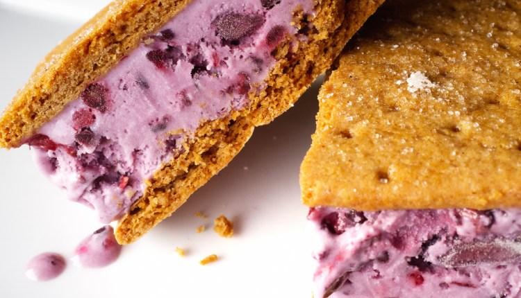 Blackberry Ice Cream Sandwiches