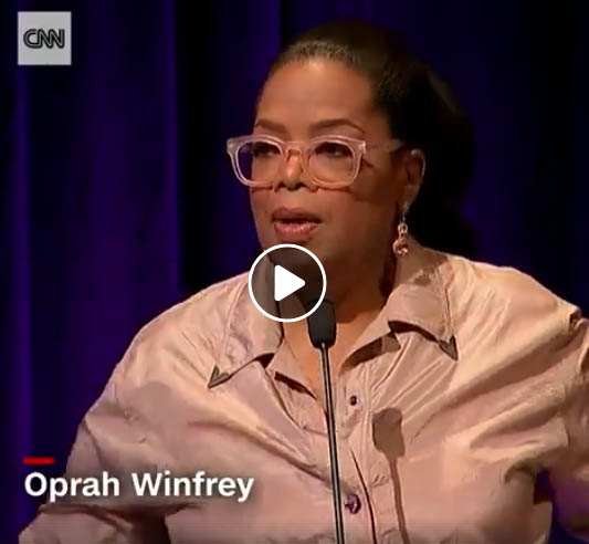 Oprah Winfrey talks about the art that keeps her