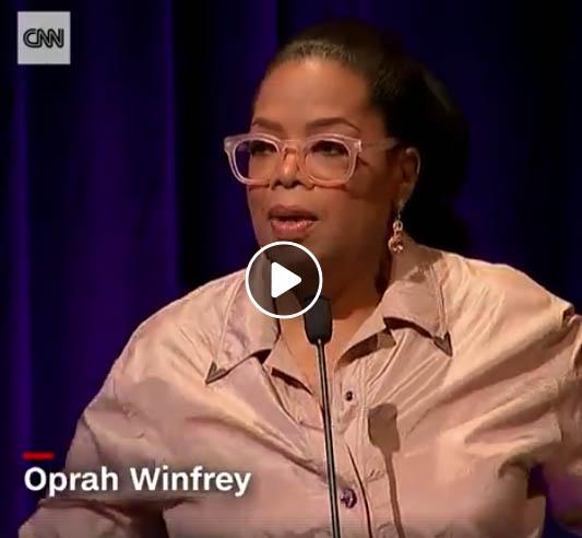 Oprah Winfrey talks about the art that keeps her