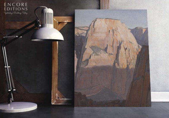 Great White Throne, Zion Canyon, Utah, Canvas Print by Maynard Dixon