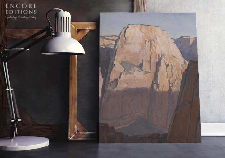 Great White Throne, Zion Canyon, Utah, Canvas Print by Maynard Dixon