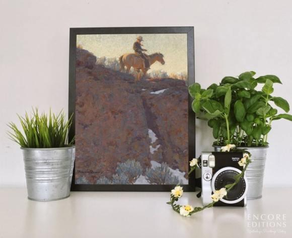 The Lone Trail Framed Art Print by Maynard Dixon