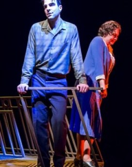 """TONY NOMINEE Cherry Jones, with Zachary Quinto, in """"The Glass Menagerie."""""""