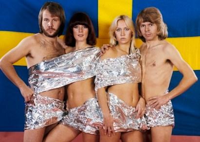 SWEDEN'S FAB FOUR: ANDERSSON, LYNGSTAD, FALTSKOG, ULVAEUS.
