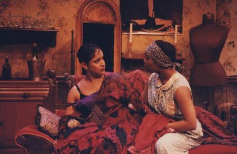A scene from the 1995 staging, with Phylicia Rashad (left) as Angel.