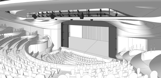 An architectural rendering of the new Alliance mainstage, coming in the fall of 2018, in time for the theater's 50th anniversary season.