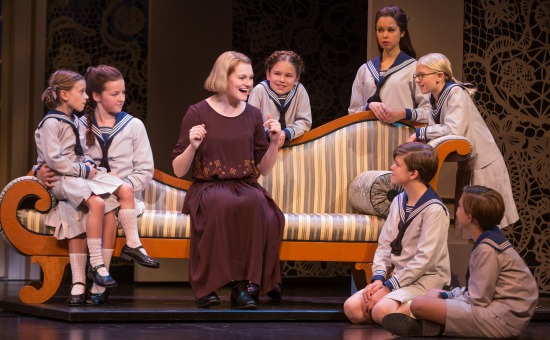 Kerstin Anderson as Maria, with the children. Photo: Matthew Murphy