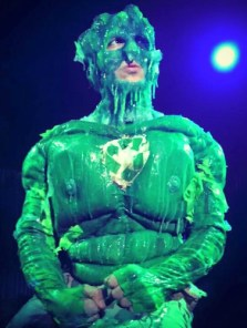 Nick Arapoglou as the Toxic Avenger.