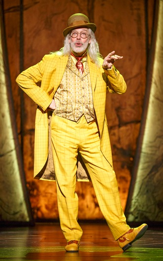 Terrence Mann as the Man in the Yellow Suit.