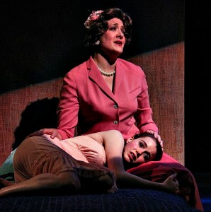 Christy Baggett (top) and Devon Hales as mother and daughter. Photo: BreeAnne Clowdus
