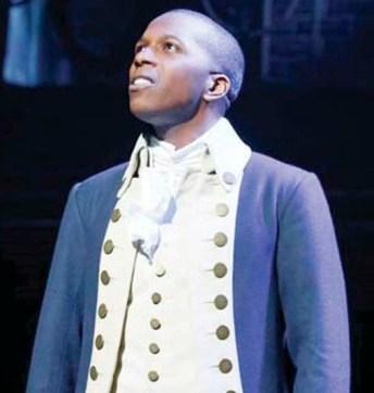 "Tony winner Leslie Odom Jr., as Aaron Burr, in ""Hamilton."" Photo: Joan Marcus"