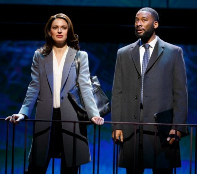 As Beth, she chooses career, teaming up with a former college colleague (Daren A. Herbert). Photo: Joan Marcus