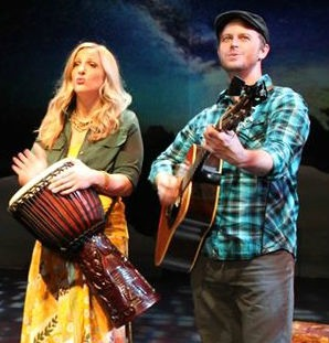 Mary Nye Bennett and Jeremy Wood channeling John Denver. Photo: Georgia Ensemble Theatre