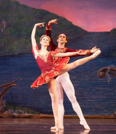 "A somewhat younger John Welker (with Nadia Mara) in ""Atlanta Ballet's Nutcracker."" Photo: Charlie McCullers"
