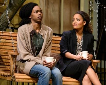 Sisters: Fedna Jacquet (left, as Catherine), Tinashe Kajese. Photo: Greg Mooney