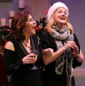 Courtenay Collins (left) with surprise guest Laura Linney. The stage-TV-film performer is a pal from Collins' Juilliard days. Photo: A'riel Tinter