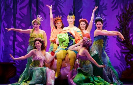 Connor Russell as Flounder, and friends. Photo: Tracy Martin