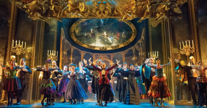 """The """"Phantom"""" company performs """"Masquerade"""" at the top of Act 2. Photo: Alastair Muir"""