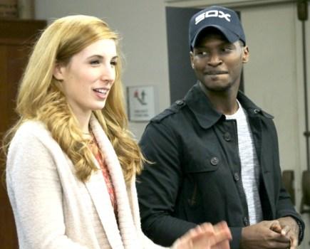 Molly Coyne and Brian Walker play Cinderella's step-siblings Vamnesia and Lavoris.