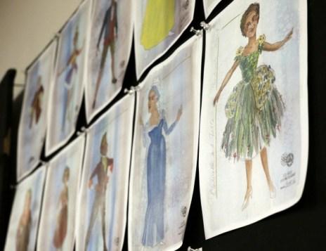 A few of costume designer Sydney Roberts' sketches.