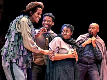 ason-jamal Ligon (from left), Seun Soyemi, Meagan Dilworth, Damian Lockhart. Photo: Chris Bartelski