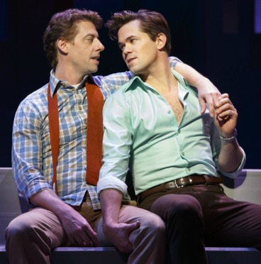 "Tony winners Christian Borle (left) and Andrew Rannells are nominated again for ""Falsettos."" Photo: Joan Marcus"