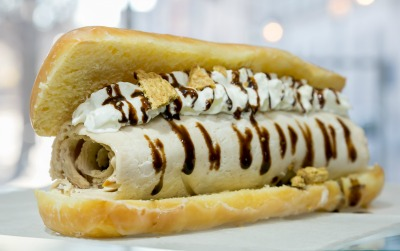 At Sweet Charlie's in Buckhead, the ice cream is Thai-inspired, really really cold and rolled.