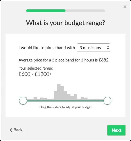 budget slider band