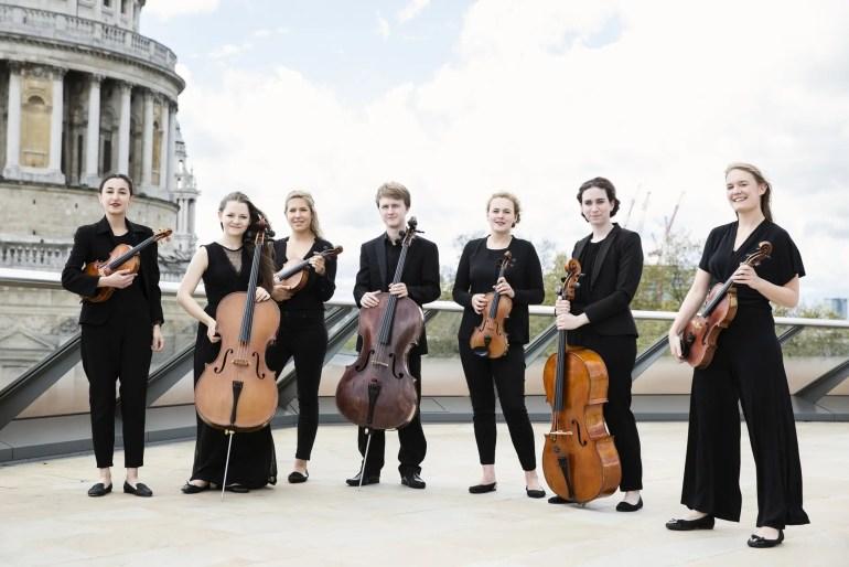 City String Ensemble Septet outside St Pauls