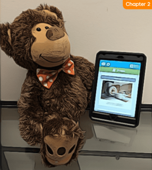 Teddy with a Tablet
