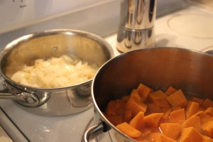 cooking sweet potatoes for soup
