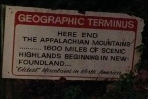Geographic End of the Appalachian Mountains