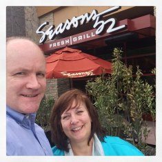 Rob and Lori at Seaons52 in Raleigh - Values Drive Experiences