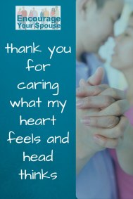thank you for caring what my heart feels and head thinks