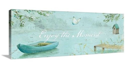 Enjoy the moment - Item 2003725 - Great Big Canvas by Daphne Brissonnet Serene Moments IV Wall Art - Words Matter