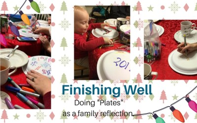 "Family Reflection and Stories – Doing ""Plates"" to finish the year."