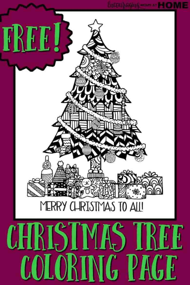 christmas coloring pages - a christmas tree