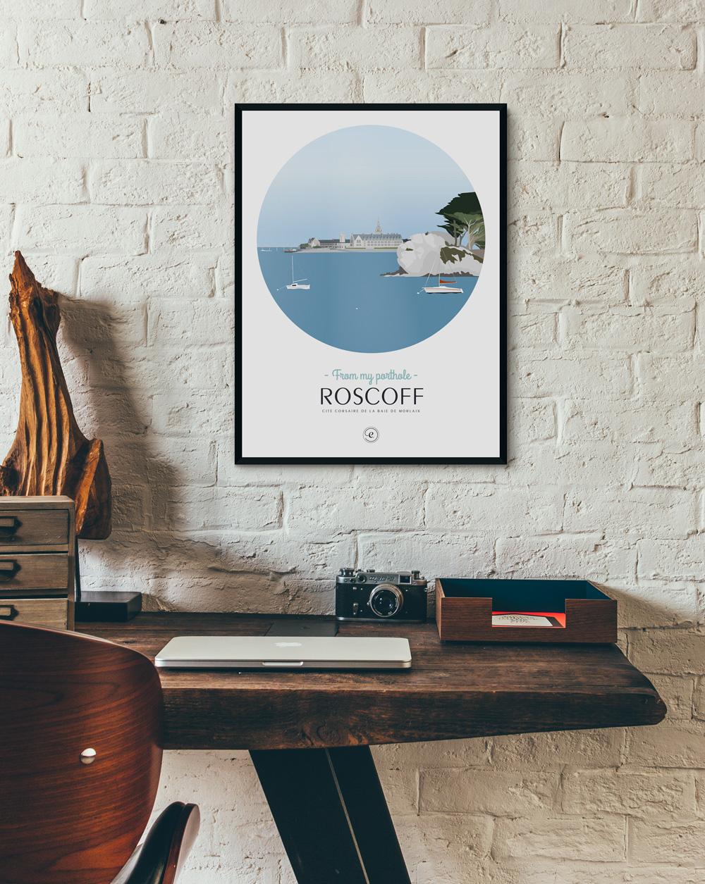 Affiche Roscoff en déco dans un bureau