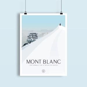 vue sur le refuge du gouter, voie normale ascension du Mont Blanc