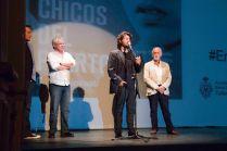 Alberto Morais, director, presenta la proyección.