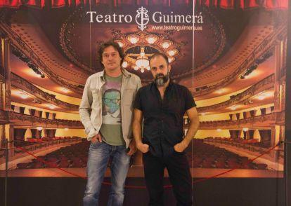 De izqda a dcha: El crítico Alejandro Krawietz y el cineasta Miguel G. Morales.